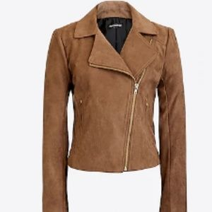 J. Crew Faux Suede Moto Jacket NWT